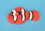 photo of playdough clownfish