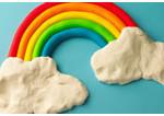 photo of playdough rainbow