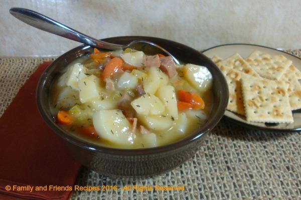 Creamy Potato and Ham Soup