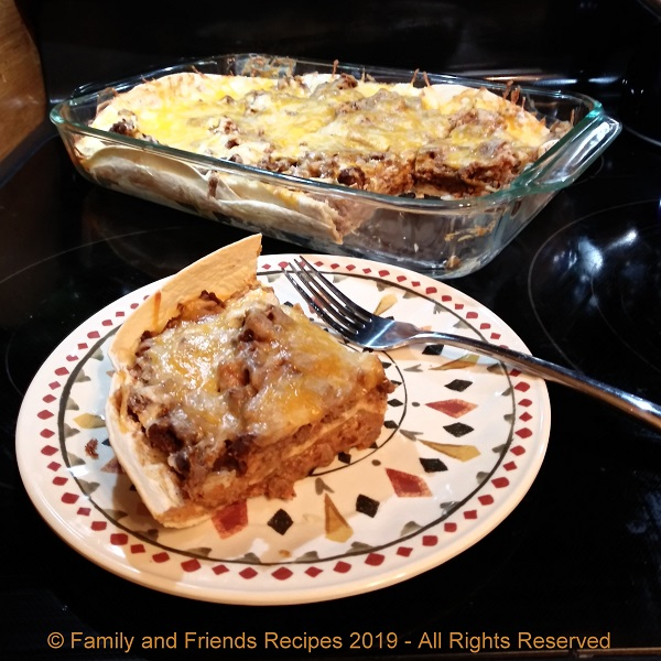 Beef and Bean Burrito Casserole