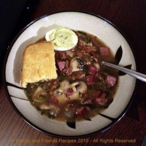 rustic bean stew photo